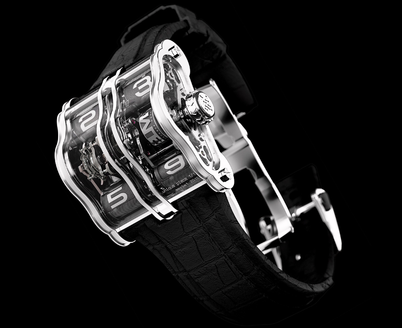 Часы из платины с черным циферблатом 2LMX