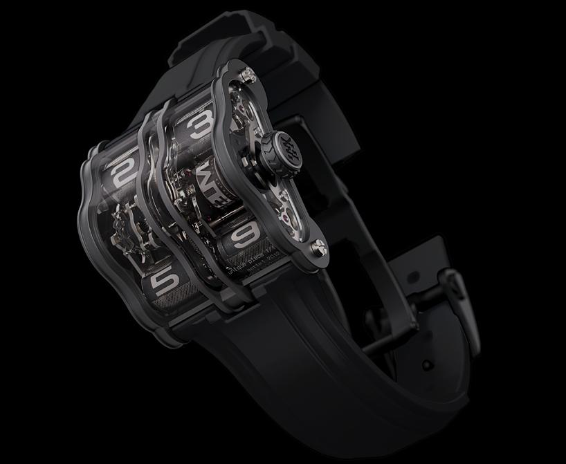 Титановые часы с черным циферблатом цвета антрацит 2LMX