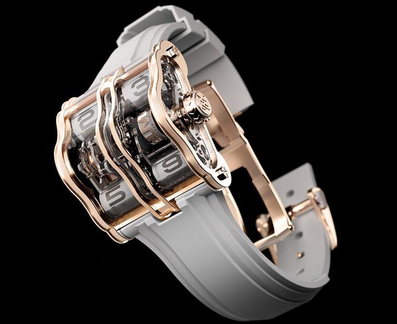 Часы из розового золота с белым циферблатом 2LMX