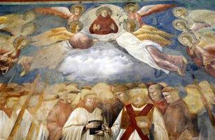 На фреске в базилике Ассизи изображён дъявол