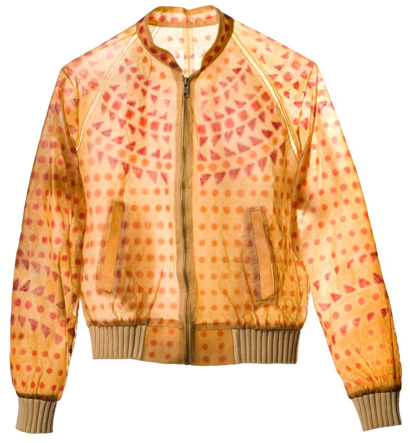 Био-куртка с этно рисунком