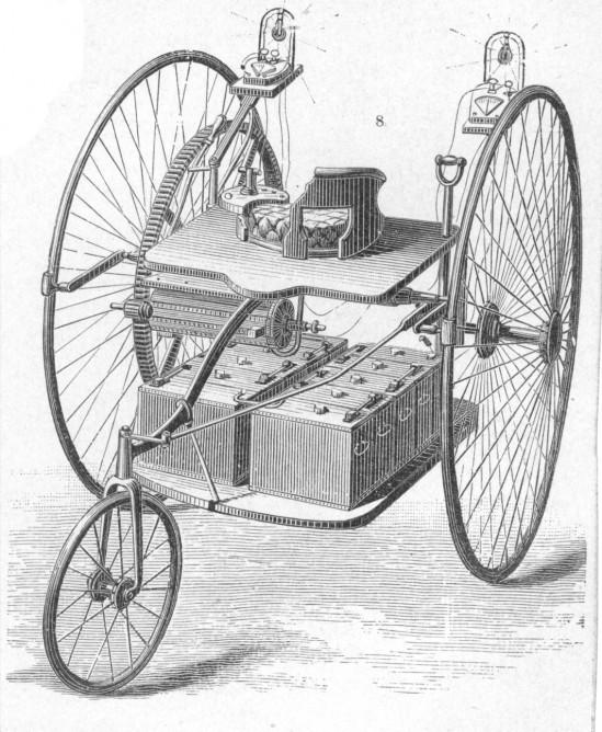 Один из двух существующих оригинальных рисунков электромобиля