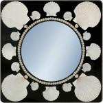 Зеркало с деревянной рамой и настоящими ракушками. Выпущено в количестве 7 штук