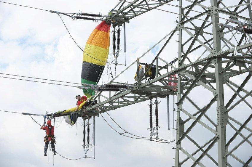 Тренировка спасателей в Эрфурте
