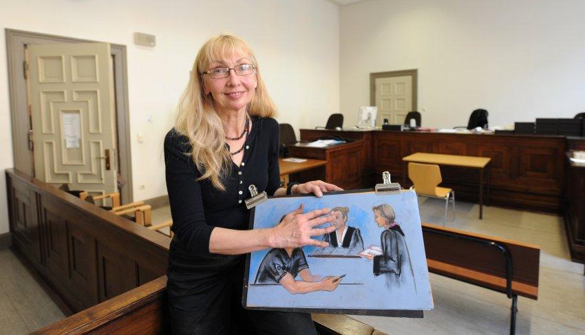 Судебный иллюстратор Нэнси Тилитц