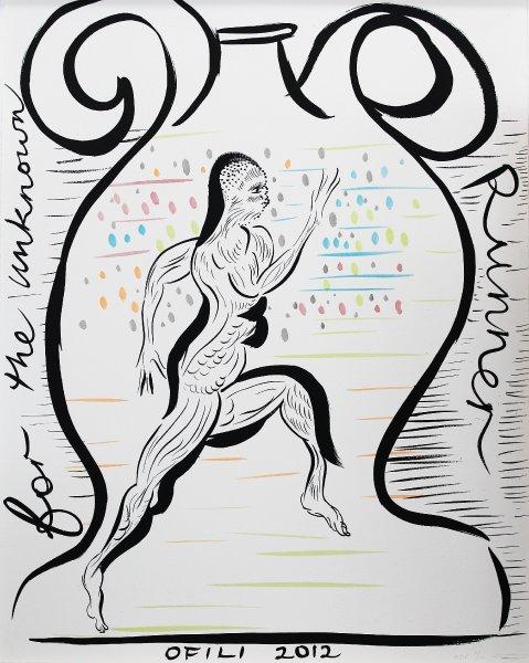 Плакат Крис Офели, Неизвестный бегун из древнего фольклора Тринидада