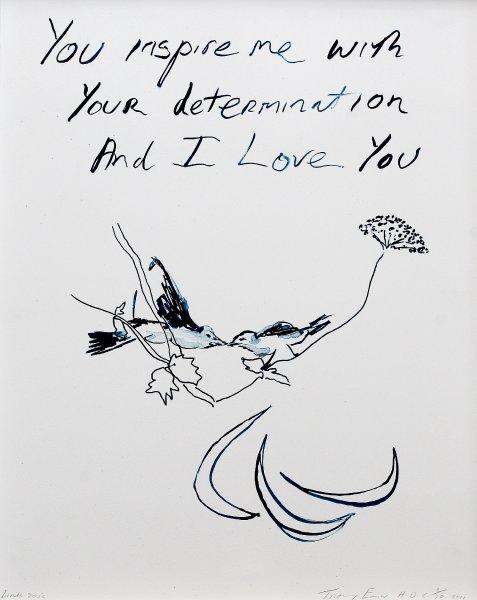 Плакат Трейси Эмин, Птицы 2012, как любовное письмо для Паралимпийских игр 2012