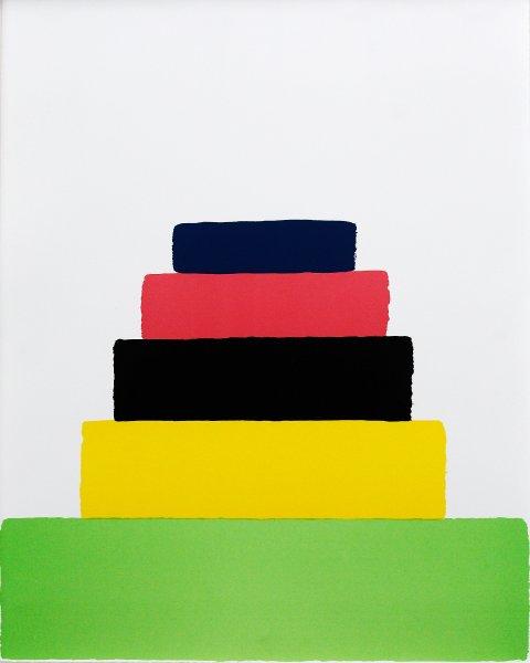 Плакат Мартина Крида, Стилизованный подиум