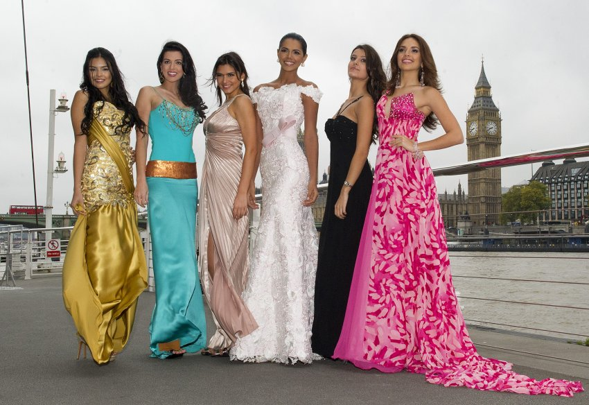 Мисс Аргентина, Мисс Бразилия, Мисс Чили, Мисс Венесуэла, Мисс Колумбия, Мисс Пуэрто-Рико