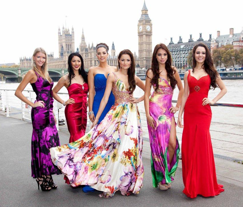 Мисс США, Мисс Канада, Мисс Мексика, Мисс Гватемала, Мисс Коста-Рика и Мисс Доминиканская Республика