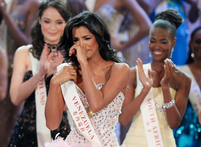 Слезы радости венесуэльской красавицы