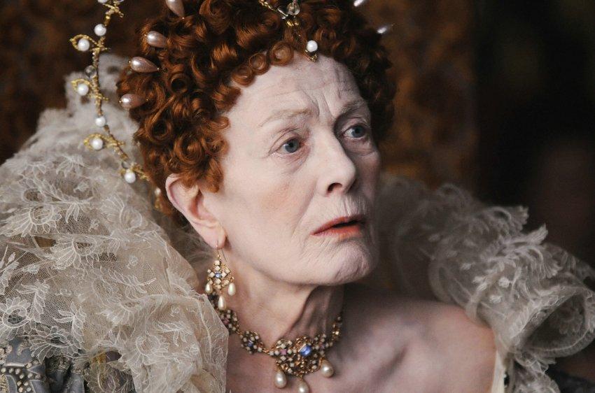 Стареющая Елизавета I, играет Ванесса Редгрейв