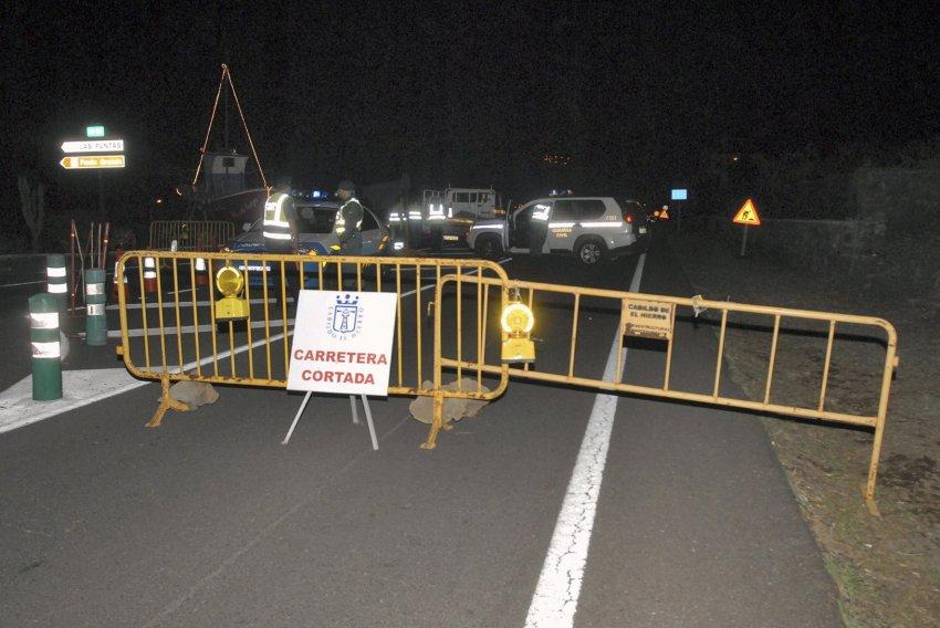 Заблокированные дороги острова