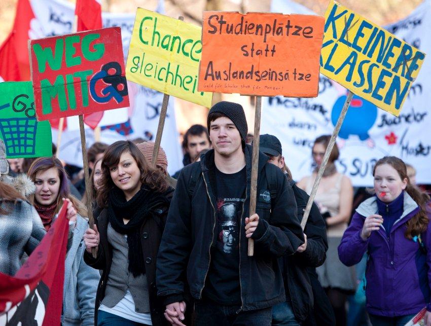 Общенациональная забастовка студентов в Мюнхене