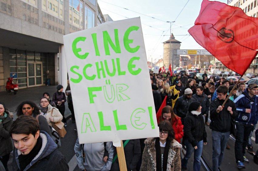 Демонстрация студентов в Нюрнберге