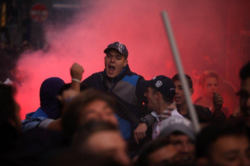 Возмущенные студенты в Неаполе