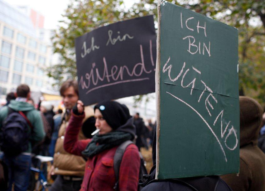 Студенты-демонстранты в Берлине
