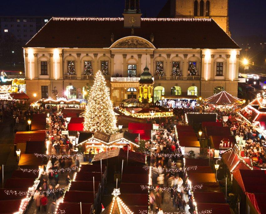 130 рождественских палаток Магдебурга