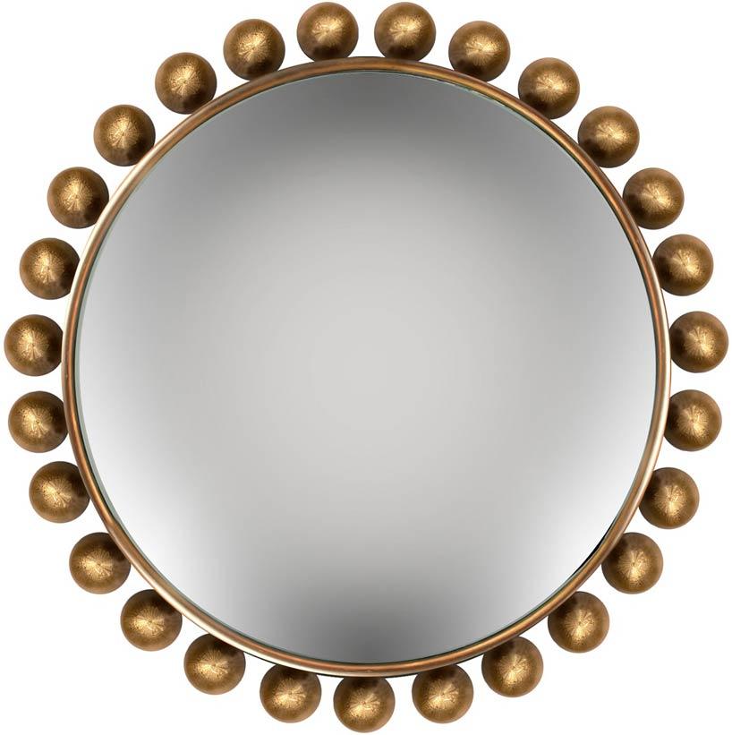 Зеркало с латунными шарами
