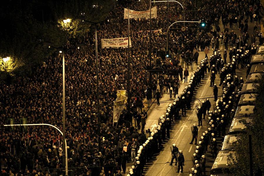 Демонстрация в Афинах 17 ноября