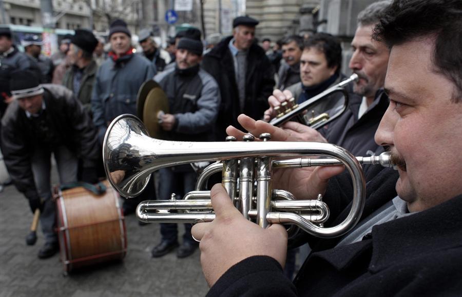 Акция протеста румынских фермеров перед Министерством Сельского Хозяйства в Бухаресте, 17 ноября