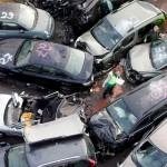 Массовое столкновение машин в Германии из-за тумана