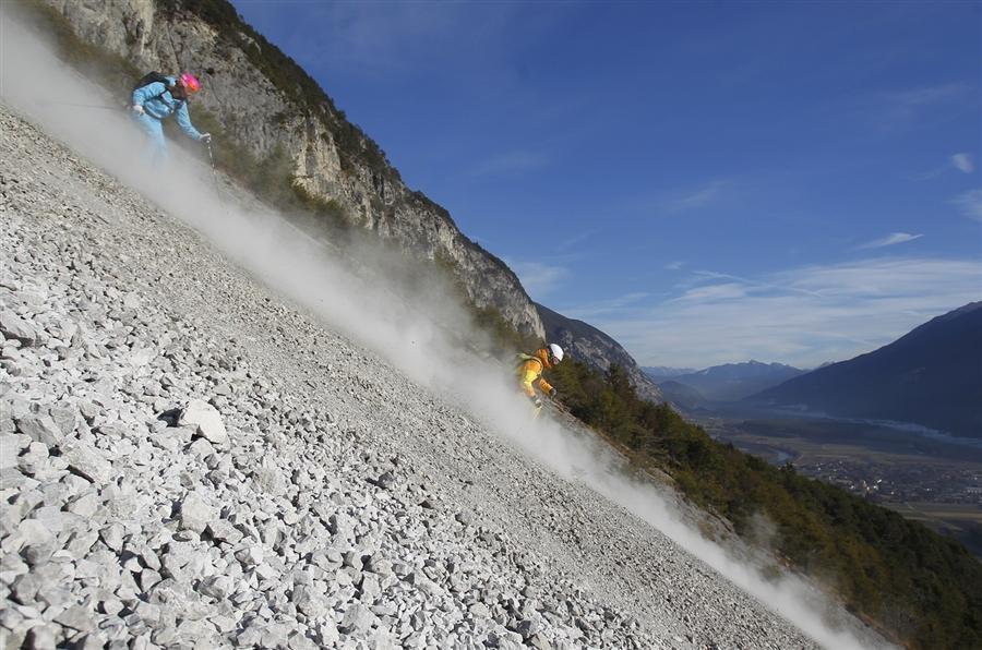 Катание по галечным альпийским склонам в Хайминге, 30 ноября