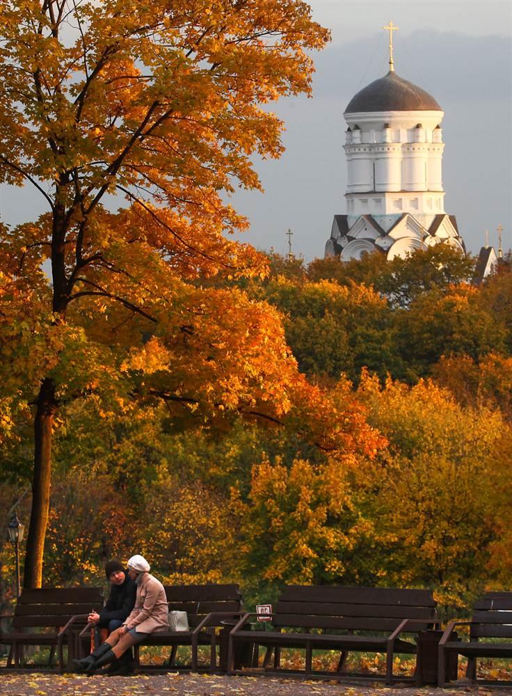 Золотая осень в Коломенском, Москва, Россия