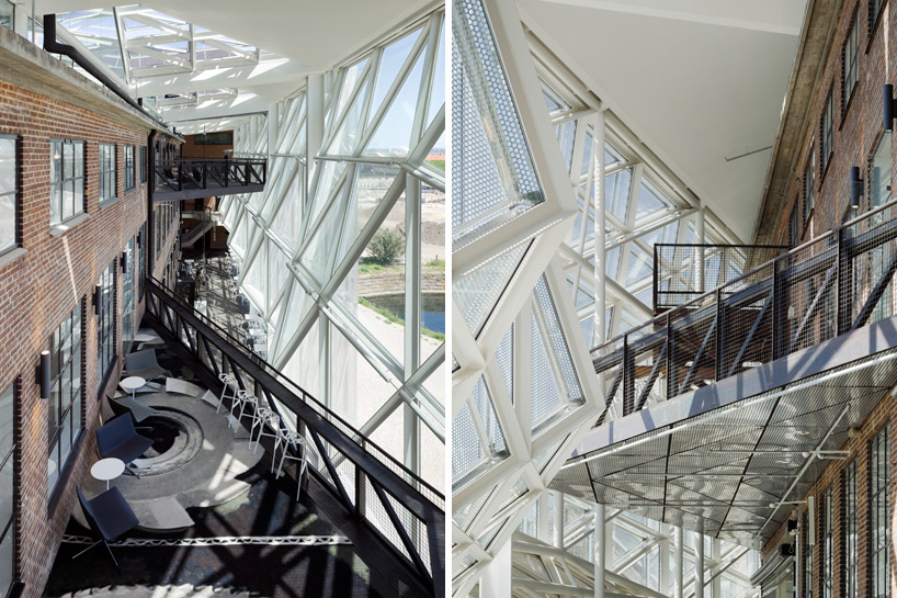 Террасы и смотровые площадки внутри выступающего фасада