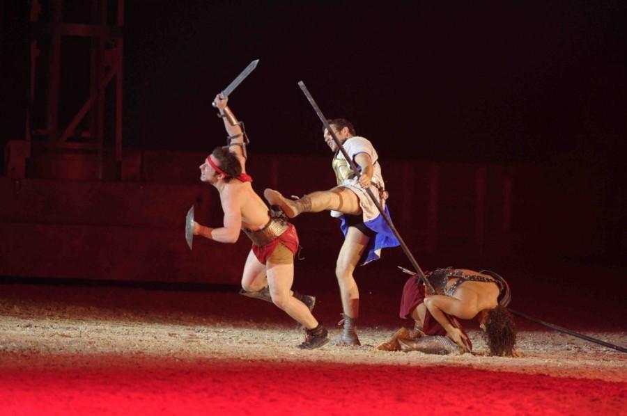 Постановка романа Ben Hur Live Льюиса Уоллеса на римской Арене