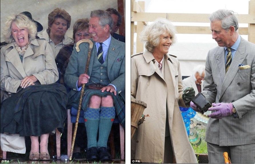 Камилла не может удержаться от смеха при шутках принца Чарльза