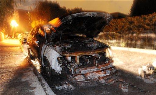 Ночные поджоги автомобилей в Германии
