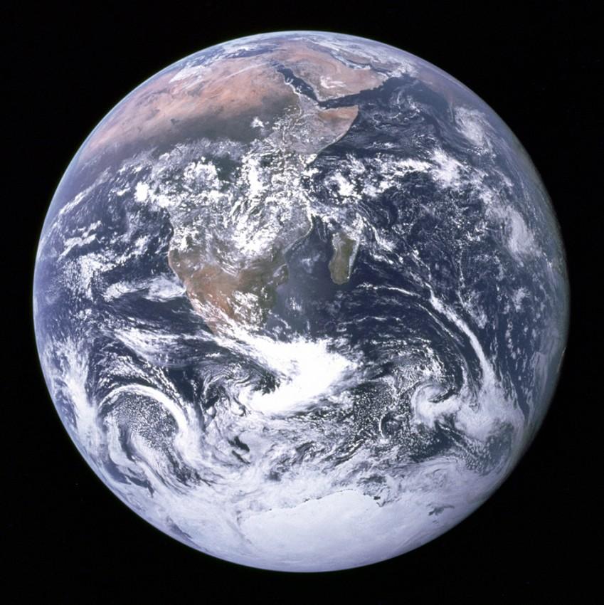 Снимок Земли с Аполлона 17, 1972 год