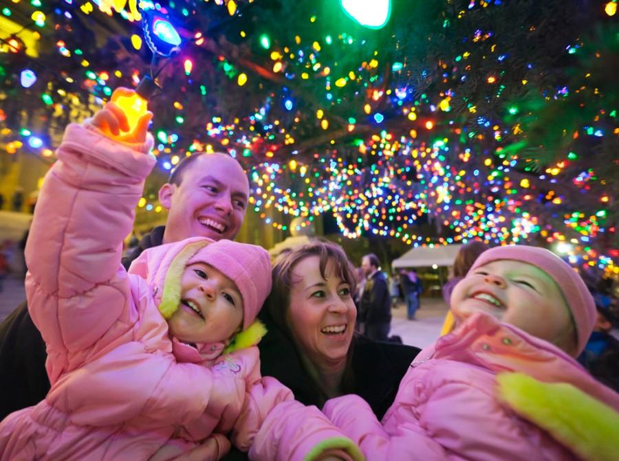 Свет Рождества зажигает сердца, штат Айдахо