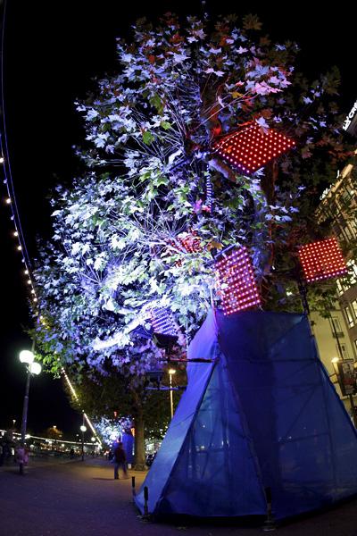 Фестиваль Света на деревьях в Женеве 2008 год