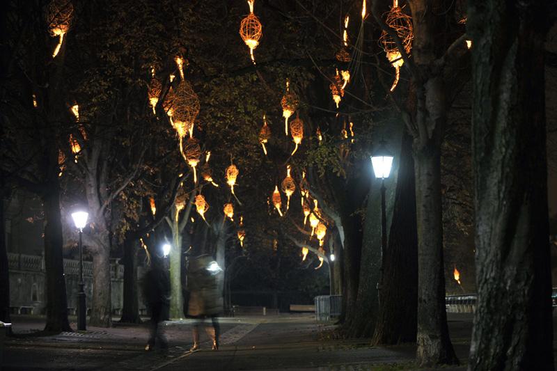 11-ый Фестиваль Света на деревьях в Женеве