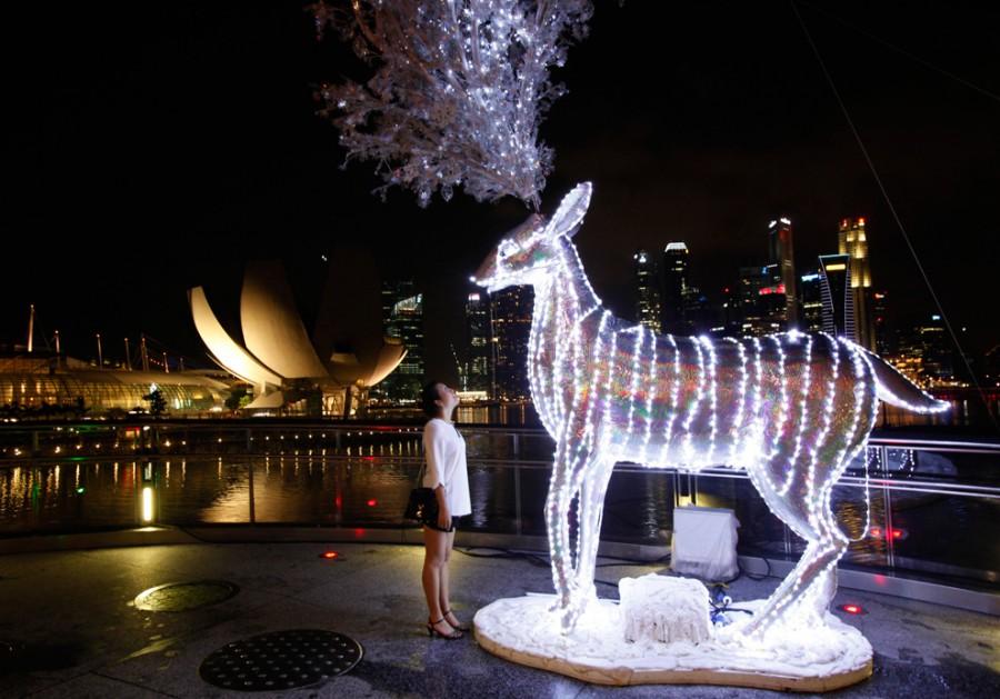 Теплый Сингапур тоже готовится к Рождеству
