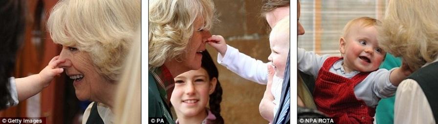Нос Камиллы очень любят трогать все малыши при встрече с Герцогиней