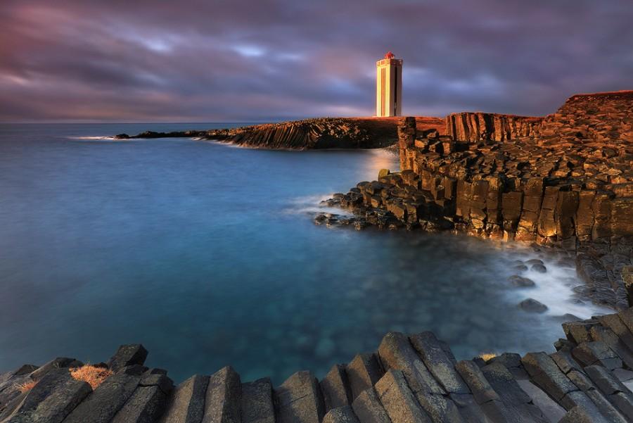 Базальтовые колонны на исландском побережье