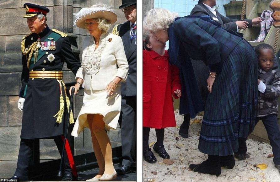 Камилла не кричит, когда ветер задирает ее юбку и показывает всем гольфы Герцогини и она просто обожает детей