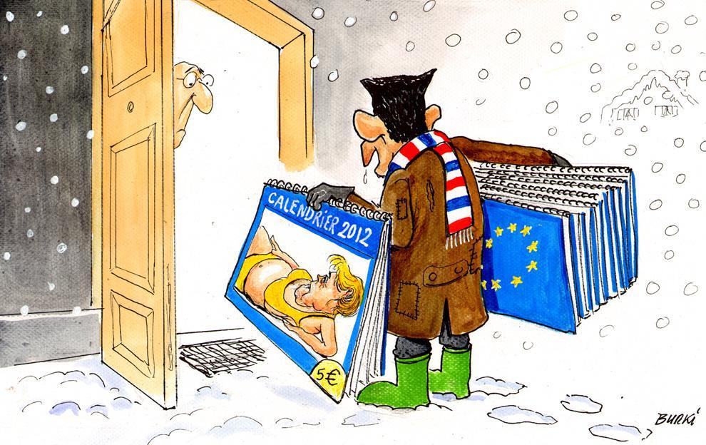 Новый календарь на 2012 год от швейцарского карикатуриста Раймонда Бурки