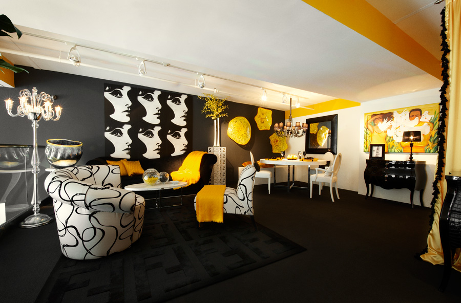 Мебель и украшения для интерьера фабрики Fendi Casa