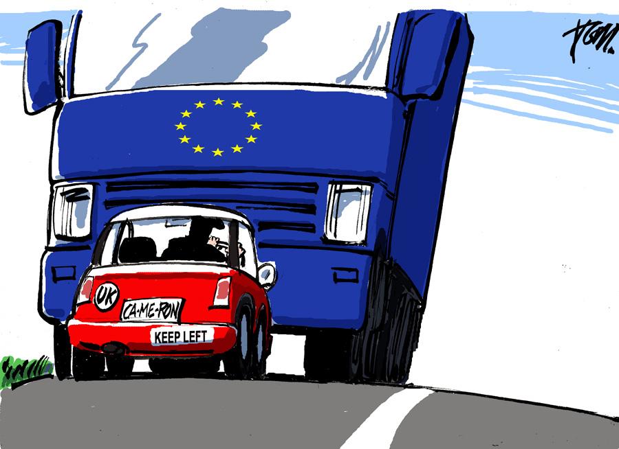 Вето Дэвида Кэмерона изолировало Великобританию от остальной Европы, карикатурист Том Янсен из Голландии