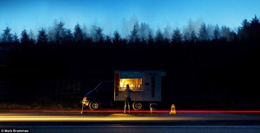 Придорожный ресторан: снек-бар на A69 в Англии