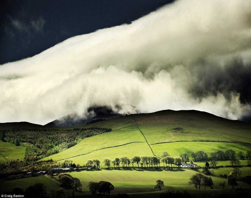 Пейзаж: в Tweedale в Шотландии