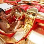 Красно-золотая мечта с покрытием 24-каратным золотом