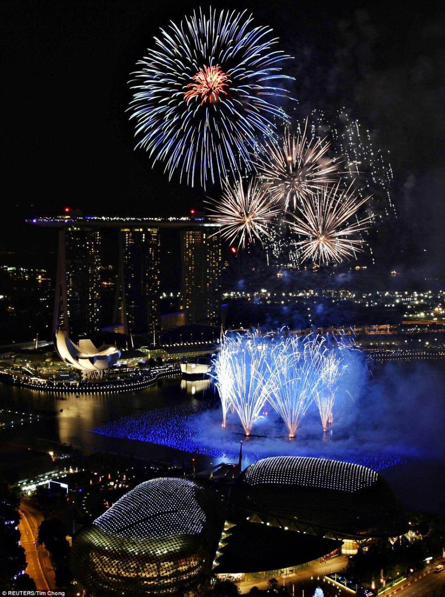 Синий час в Marina Bay, Сингапур