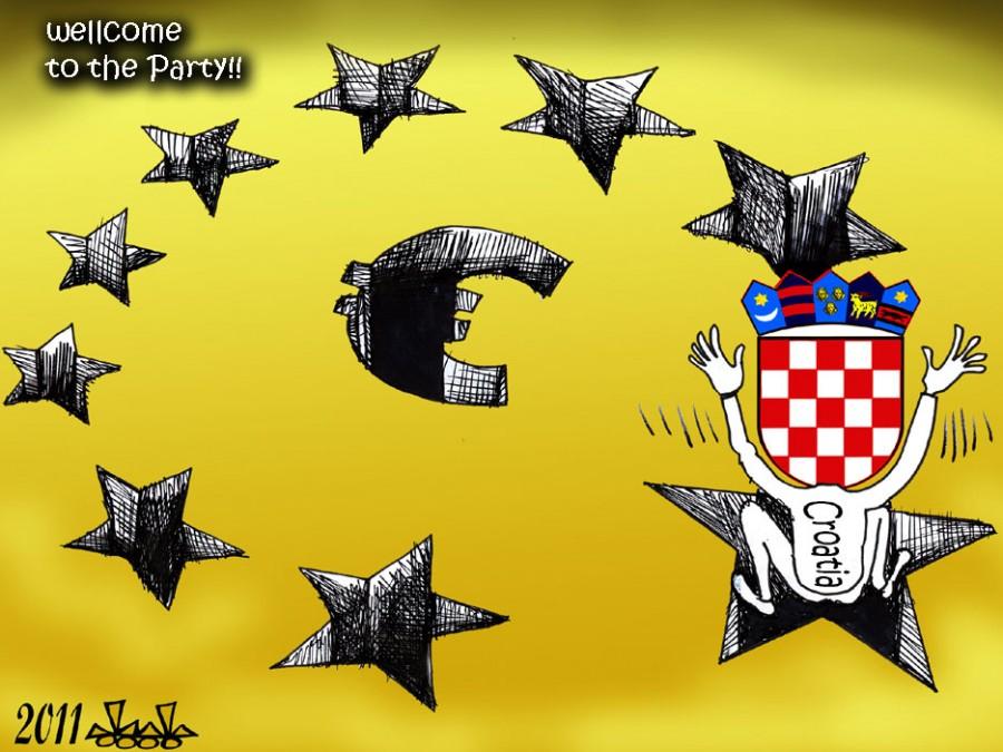 Вступление Хорватии в ЕС, карикатурист Хасан Блейбел