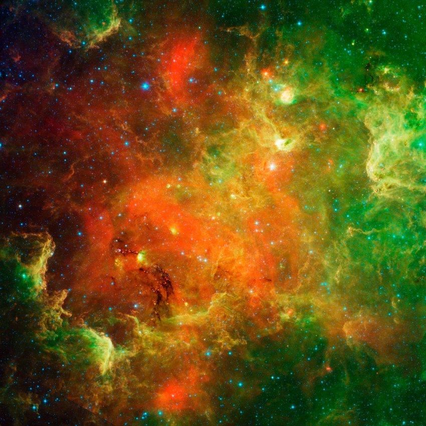 Туманность Северная Америка 10 февраля. Эта группа молодых звезд возникла 5 млн. лет назад