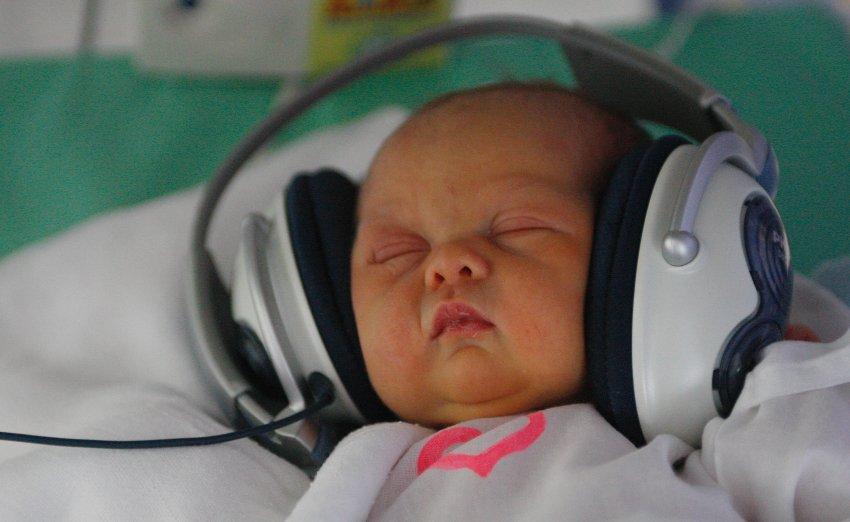 Музыка для нормализации нервной системы новорожденных в больнице Кошице, в Словакии